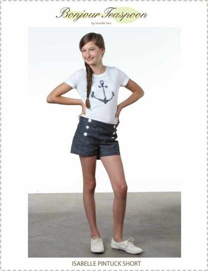 Download Isabelle Pin Tuck Sailor Short pdf Sewing Pattern for Girls - Sewing Patterns immediately at Makerist