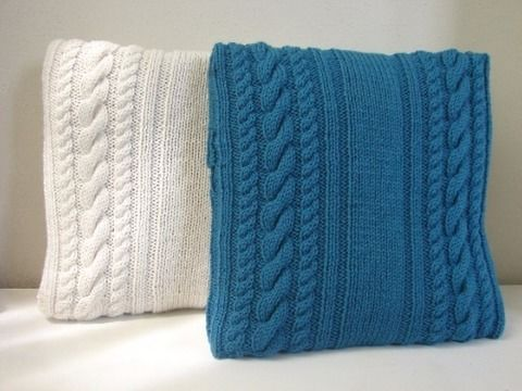 Download Cable cushion cover 40 x 40 cm / 15.75 x 15.75 - knitting pattern - Knitting Patterns immediately at Makerist