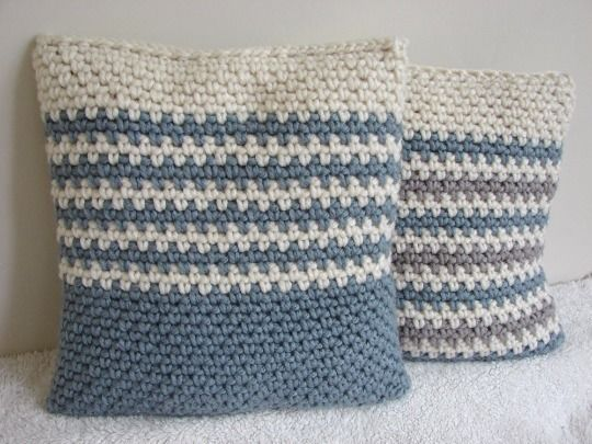 Chunky Cushion Cover Granite Stitch Crochet Pattern