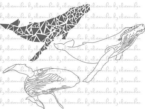 Plotterdatei > Buckelwale < Plottermotiv bei Makerist sofort runterladen