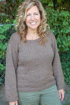 Download Easy to Knit, women's Pullover with Square Neck - Knitting Patterns immediately at Makerist