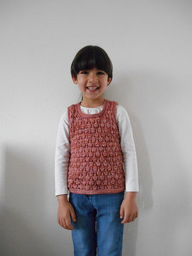 Download Conter fleurette - sleeveless sweater for girls - Knitting Patterns immediately at Makerist