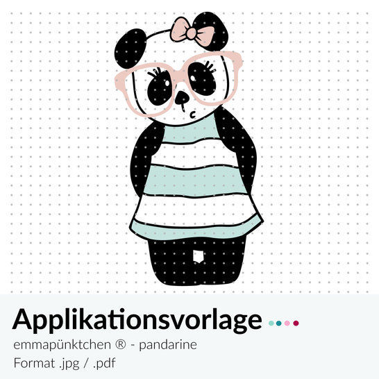 emmapünktchen ® - applikationsvorlage pandarine - Nähanleitungen bei Makerist sofort runterladen