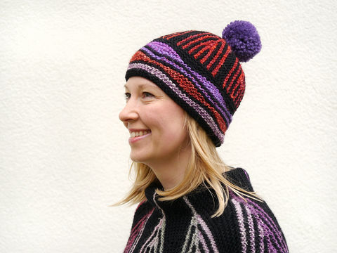 Download ART DECO hat knitting pattern - Knitting Patterns immediately at Makerist