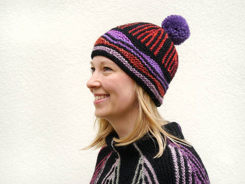 Download ART DECO hat knitting pattern immediately at Makerist
