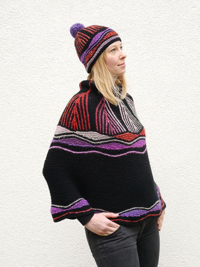 Download Nice Price Bundle ART DECO Cape + Hat - Knitting Patterns immediately at Makerist