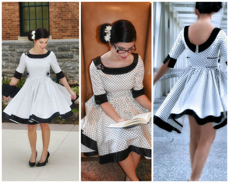 Download Dress PDF Sewing Pattern (50ies Style) - Sewing Patterns immediately at Makerist