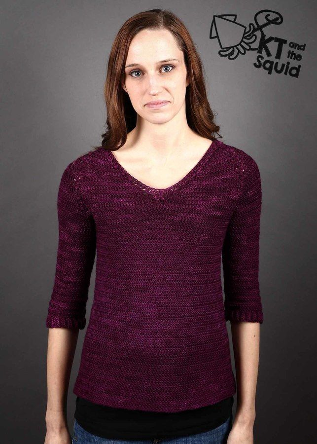 Baroque Pullover Top Down Crochet Sweater Pattern