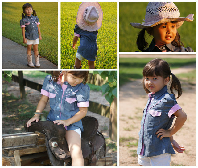 Download Girls Country and Western style Blouse, PDF Sewing Pattern with Video Tutorial and Photo guide - Sewing Patterns immediately at Makerist