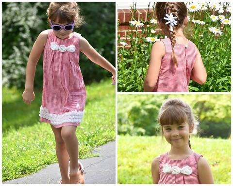 Download Girls sleeveless Summer TopSchnittmuster für ein Mädchen Kleid (Lily) Digitales Schnittmuster, E- Book & Video Anleitung immediately at Makerist