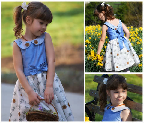 Download GIRLS DRESS SEWING PDF PATTERN, PRINCESS COSTUME - FLOWER GIRL DRESS - PDF SEWING PATTERN  immediately at Makerist