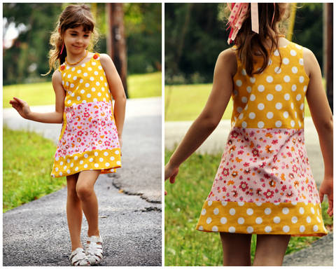 Download Pinafore dress pattern for toddlers and girls, PDF with Video Tutorial immediately at Makerist