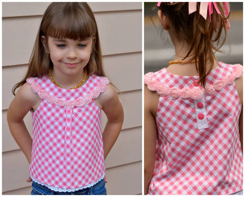 Download GIRLS DRESS SEWING PATTERN, GIRLS TUNIC SEWING PATTERN,ROUND COLLAR, DRESS PATTERN, PRETTY immediately at Makerist