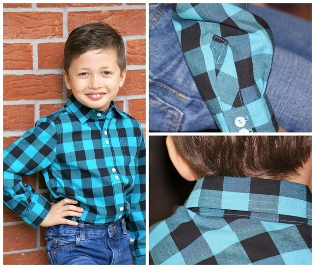 Download Classic Button up Shirt for Boys, PDF sewing Pattern with Video Tutorial - Sewing Patterns immediately at Makerist