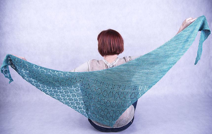Download Shawl - Blommande  - Knitting Patterns immediately at Makerist