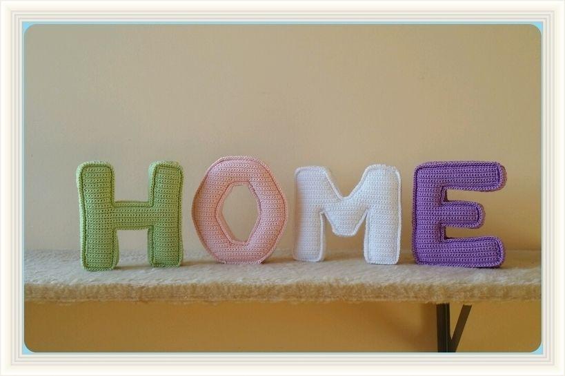 Häkelanleitung 3D Buchstaben HOME - Häkelanleitungen bei Makerist sofort runterladen