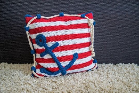 Download Crochet Pattern Anchor Pillow - HANKIDS - Crochet Patterns immediately at Makerist