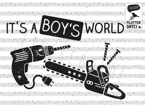"Plotterdatei ""A Boy's World"" bei Makerist sofort runterladen"