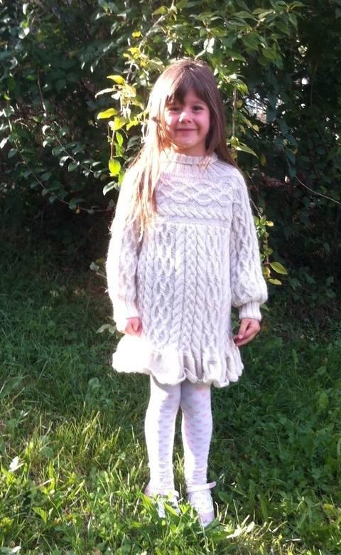 Zopfpulli / Kleid Anamchara Mädchen Gr. 122 / 5 Jahre Strickanleitung bei Makerist sofort runterladen