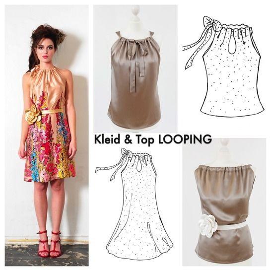 EBOOK Top/Kleid  LOOPING Nähanleitung und Schnittmuster - Nähanleitungen bei Makerist sofort runterladen