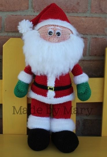 Download Santa Claus Amigurumi Pattern - Crochet Patterns immediately at Makerist