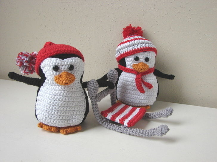 Amigurumi Penguins And Sled Crochet Pattern