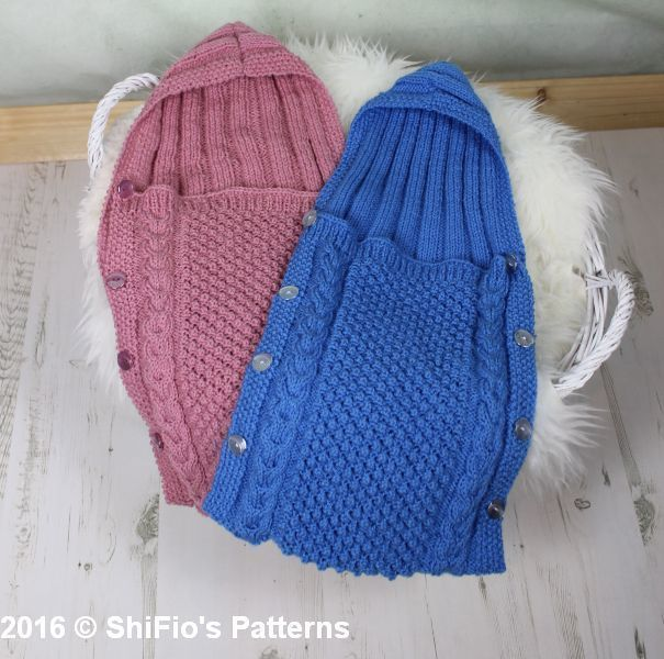 Kp358 Knitting Pattern For Baby Sleeping Bag Cocoon