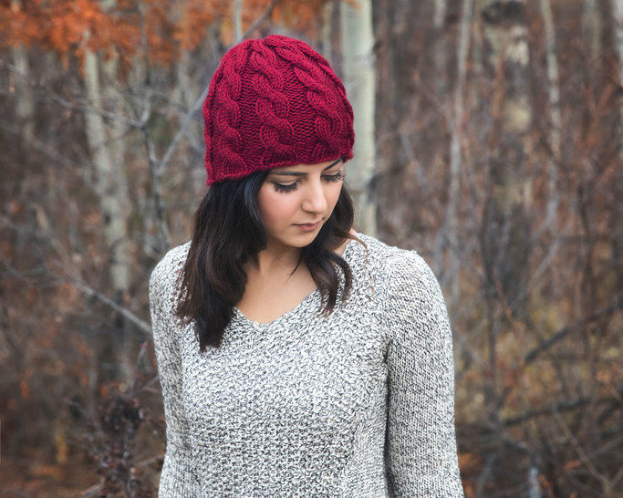 108b2c04931 Download Chunky Cable Knit Hat Pattern - Knitting Patterns immediately at  Makerist
