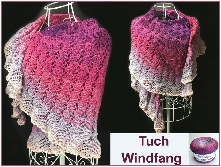 Tuch Windfang Mit 1 Bobbel Stricken