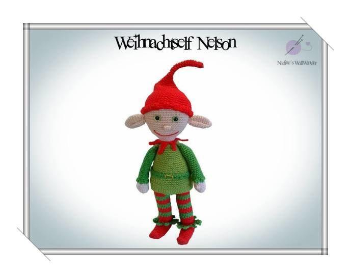 Häkelanleitung: Weihnachtself Nelson - Häkelanleitungen bei Makerist sofort runterladen