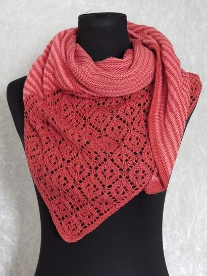 Download Knitting pattern shawl, scarf Amrun - Knitting Patterns immediately at Makerist