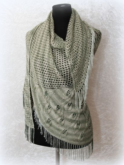 Download Knitting pattern shawl, wrap Eryn - Knitting Patterns immediately at Makerist
