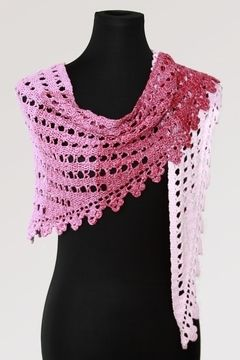 Download Crochet pattern scarf, shawl, wrap Little Pink Clouds - Crochet Patterns immediately at Makerist