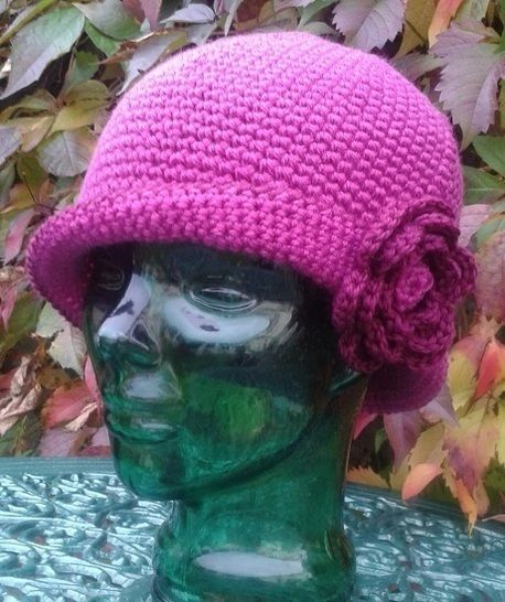 Download Ladies Cloche with Rose crochet pattern - Crochet Patterns immediately at Makerist