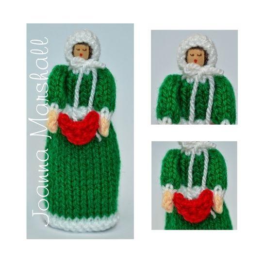 Download Knitting Pattern - Christmas Carol Singer Peg Doll - Knitting Patterns immediately at Makerist