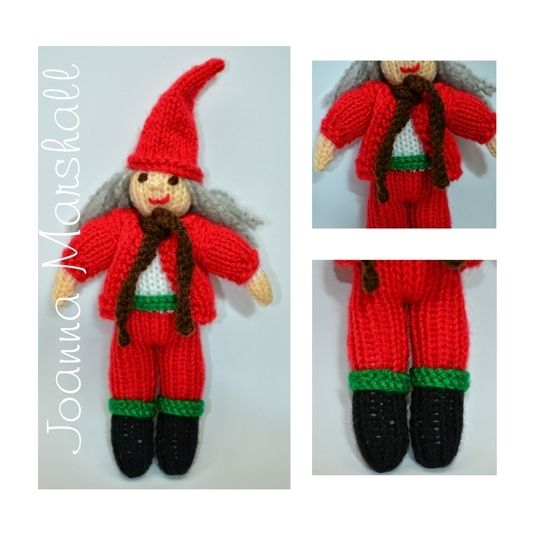 Download Knitting Pattern - Christmas Scandinavian Elf Doll  - Knitting Patterns immediately at Makerist
