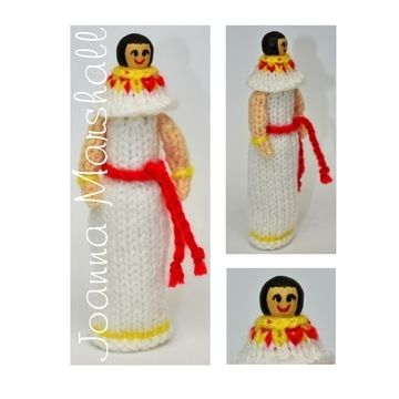 Download Knitting Pattern - Ancient Egyptian Peg Doll - Knitting Patterns immediately at Makerist