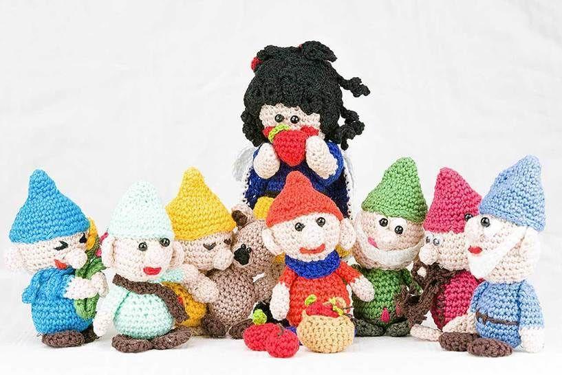 Häkelfiguren: Schneewittchen und die 7 Zwerge - Häkelanleitungen bei Makerist sofort runterladen