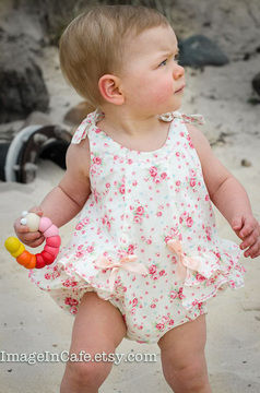 Download Baby Romper - sewing pattern - RoseBud Romper - Sewing Patterns immediately at Makerist