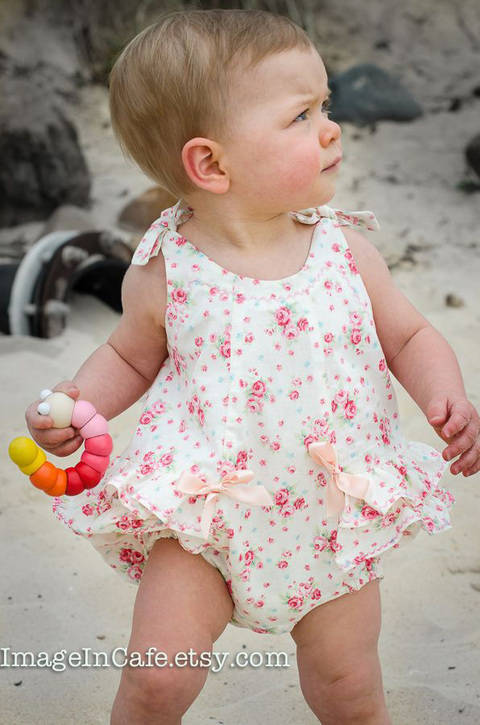 Download Baby Romper - sewing pattern - RoseBud Romper immediately at Makerist