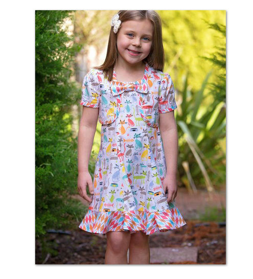 Download Girls dress sewing pattern - Carousel Sundress & Topper - Sewing Patterns immediately at Makerist