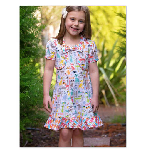 Download Girls dress sewing pattern - Carousel Sundress & Topper immediately at Makerist
