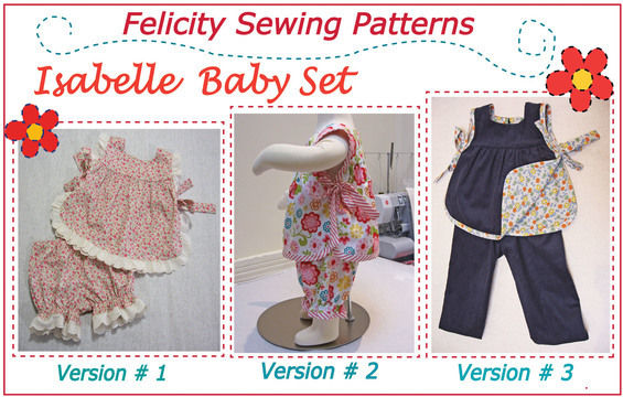 Download Baby & toddler top & pants sewing pattern - Isabelle Baby Set - Sewing Patterns immediately at Makerist