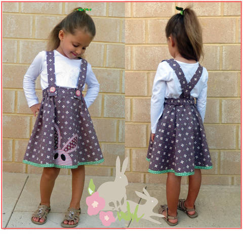 Download Girls skirt sewing pattern - Topsy Twirly Skirt with applique. immediately at Makerist