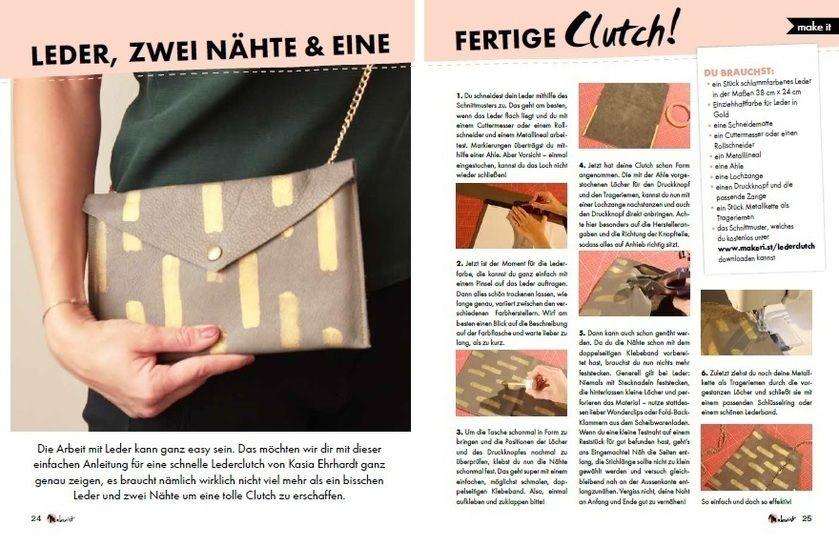 Makerist Mag Special: Stylishe Clutch aus Leder - Nähanleitungen bei Makerist sofort runterladen