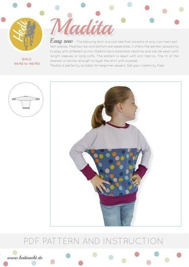 "Download ""Madita"" for kids. - Sewing Patterns immediately at Makerist"