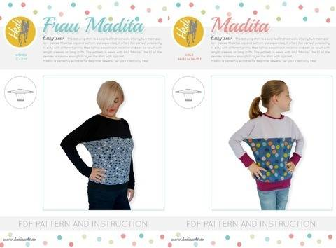 "Download Set: ""Frau Madita"" and  ""Madita"" for kids and women.  immediately at Makerist"