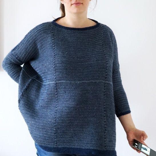 "Download Tunisian Crochet Sweater Pattern ""Maximum""  - Crochet Patterns immediately at Makerist"