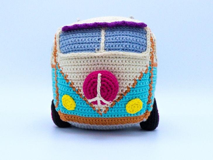 Häkelanleitung: Hippie Bus - Häkelanleitungen bei Makerist sofort runterladen