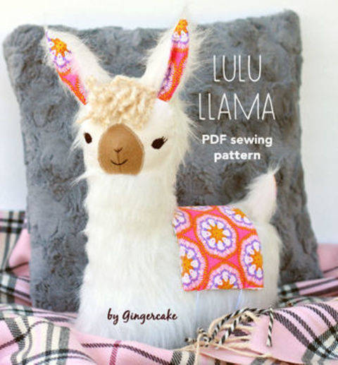Download LuLu Llama Pillow sewing pattern immediately at Makerist